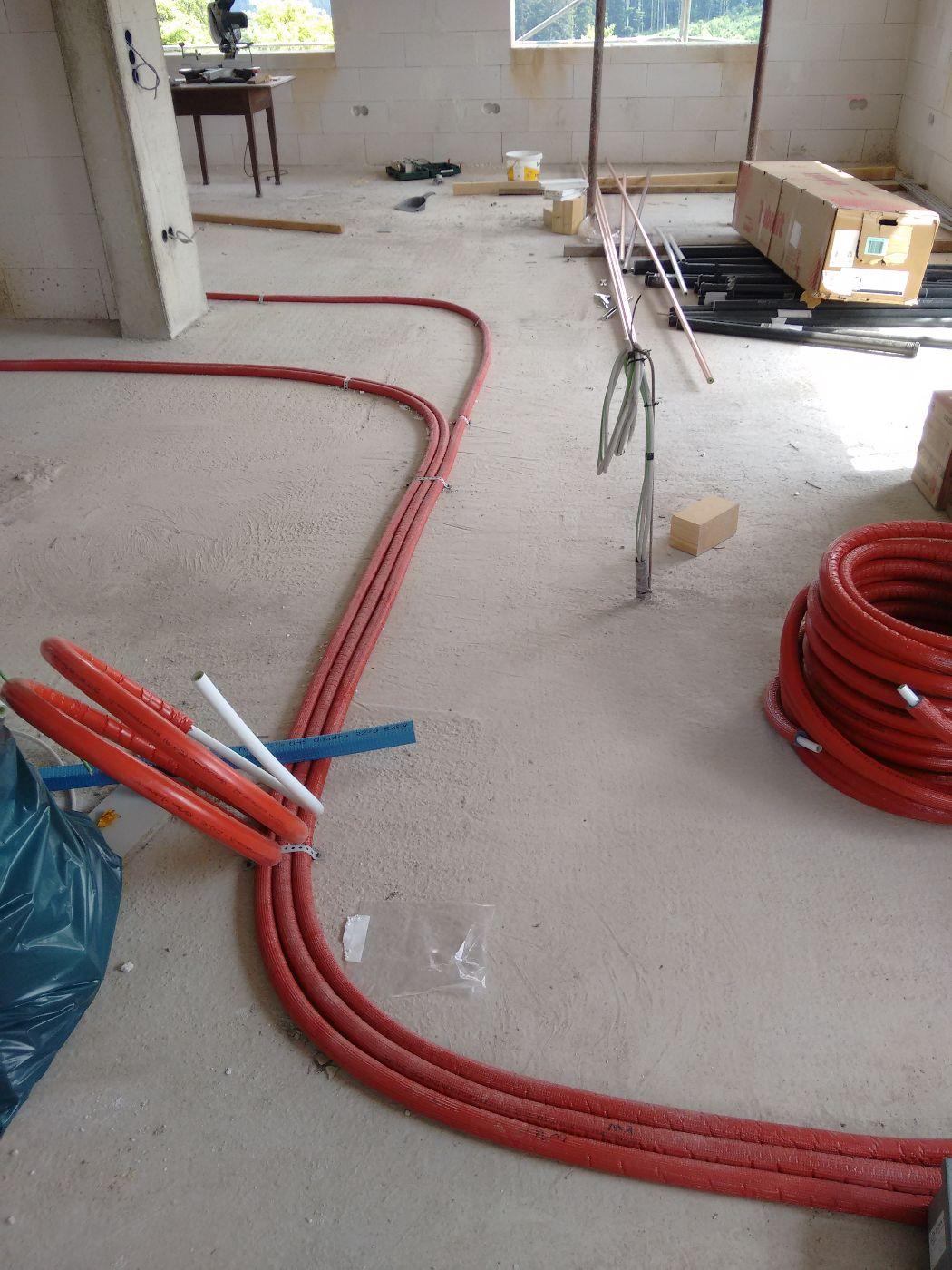sanitär-installation, kabel verlegen, dach-dämmung | baublog